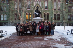 Executive Program in Arts & Culture Strategy Participants on the University of Pennsylvania campus during the March 2015 convening